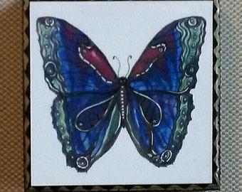 Blue Magic Butterfly Art panel