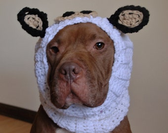 Dog Snood Cow Crochet MADE TO ORDER