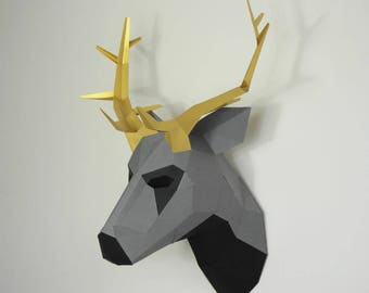 Stag Trophy Mask - build your own wall mountable trophy mask