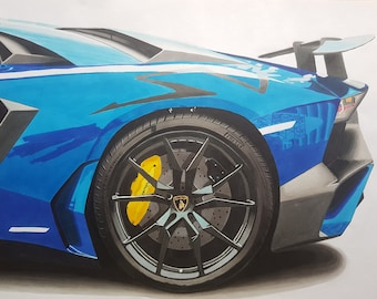 Lamborghini Aventador SV Drawing Copy