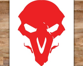 Overwatch Reaper Decal - Reaper Overwatch Decal Death - Video Game Decals Geek Decals Video Game Decor