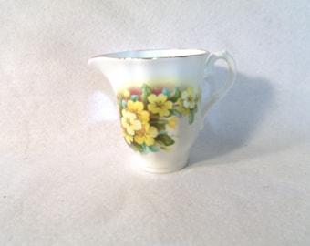Royal Grafton Creamer, Yellow Pansies