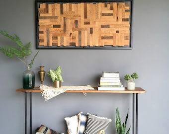 Heritage // mosaic reclaimed wood art // modern wood assemblage