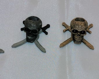 Paracord beads: Jolly Roger