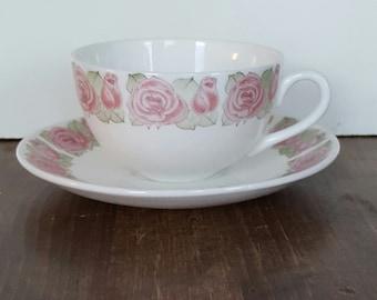 Wonderful vintage tornrosa coffee/ tea cup by Margareta Hennix /Calle Blomqvist for Gustavsberg -  made in Sweden 1968-70.