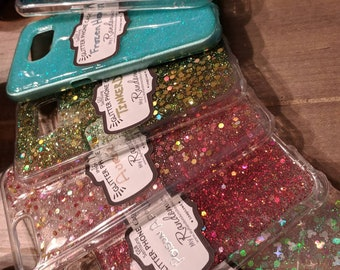 Personalized, Glitter, Phone case, iPhone, Samsung, Galaxy