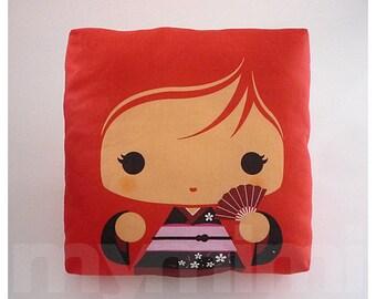 Fille kawaii les filles oreiller oreiller de Geisha rose
