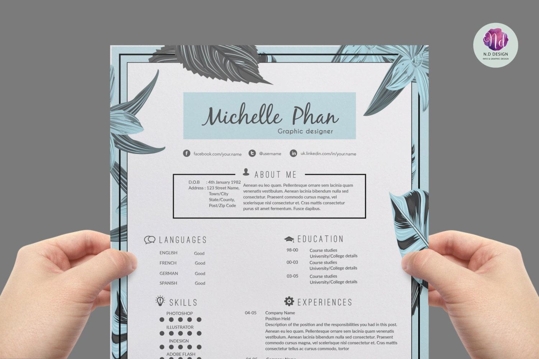 Plantilla CV / reanudar plantilla plantilla de carta de