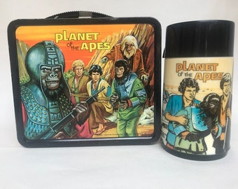 1974 Planet of the Apes Lunch Box and Thermos!  Very nice!