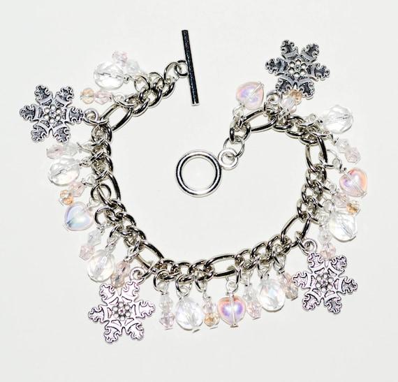 Charm Bracelet - Snowflake Pink