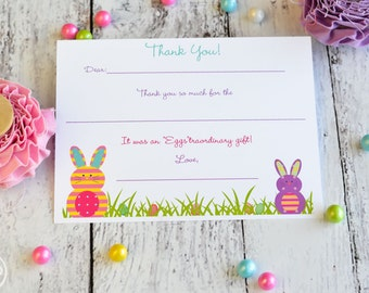 Easter Kids Thank You Notes Fill In The Blank