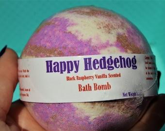 Happy Hedgehog Bath Bomb / Black Raspberry Vanilla
