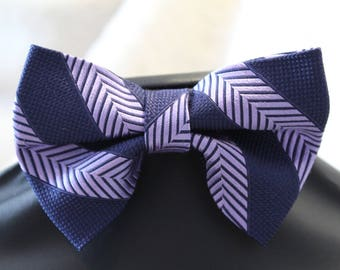 Bowtie made from upcycled necktie.