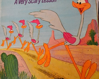 Vintage  Little Golden Book The Road Runner A Very Scary Lesson Five Books for 10
