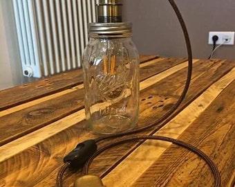 Mason Ball jar lamp