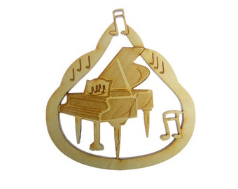 PIANO Ornament - Piano Ornaments - Grand Piano Ornament - Musician Gift - Musician Ornaments - Piano Player Ornaments - Personalized Free