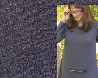 Eggplant textured knit fabric