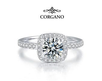 Moissanite Engagement Ring - 1.5 Carat - 14K 18K Gold Ring - San Antonio Wedding Ring