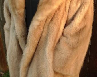 Superb! Elegant MINK FUR Women's Coat Jacket DESIGNER Mid Vintage Arpin