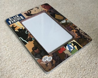 """Black Panther (inspired) Themed 4"""" X 6"""" Picture Frame"""