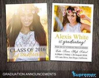 senior graduation announcements templates