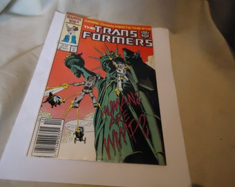 Vintage 1986 The Transformers More Than Meets The Eye Dec #23 Marvel Comic, Humans Are Wimps,  collectable