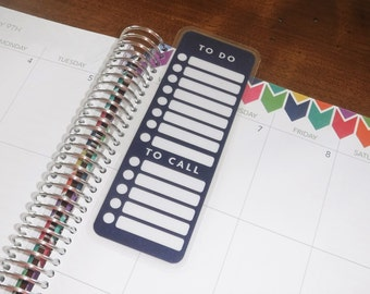 To Do Dashboard, Coil Clip In, Laminated, Double Sided  / Filofax Personal Size, Erin Condren Life Planner, Limelife, Plum Paper