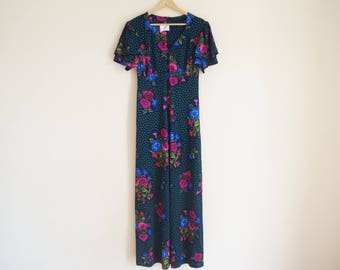 Vintage Floral Dress / Vintage Maxi Dress
