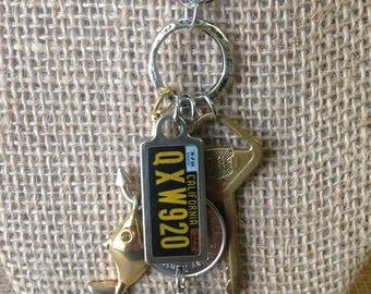 Road Trip Necklace - Vintage California DAV Tag * Transit Token * Vintage Ford Key