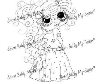 INSTANT DOWNLOAD Digital Digi Stamps Big Eye Big Head Dolls Digi  My - Besties  Jenni  By Sherri Baldy