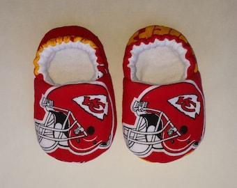 Chiefs baby etsy kansas city chiefs baby slippers baby shoes crib shoes baby booties baby negle Choice Image