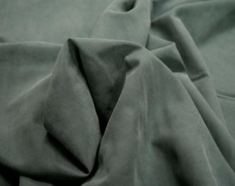 """Green Polynosic Polyester Microfiber Fabric Shirting Apparel 59"""" Wide By The Yard 36"""" Long"""