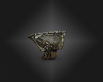 "One Piece Jewelry ""BlackSeriyuShield"" Ring By Gemelli"