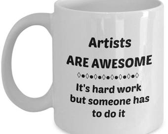 Know an Awesome Artist? This Coffee Mug makes a Great Gift!