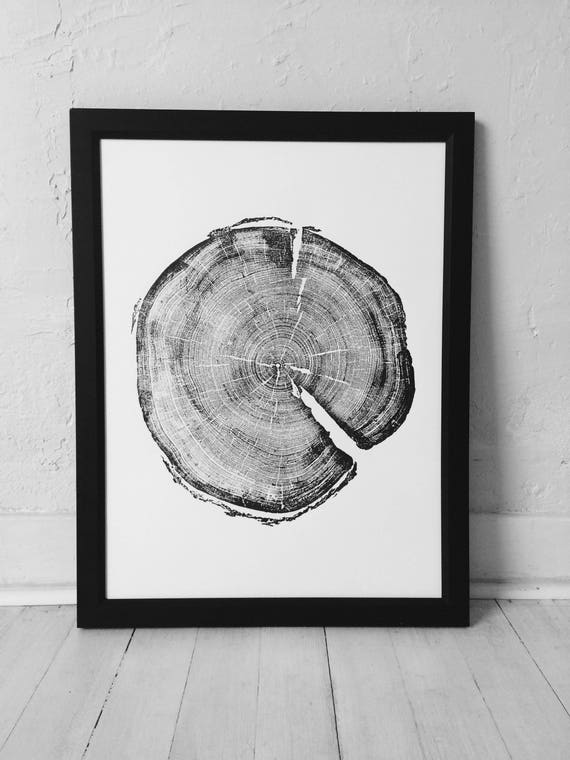 183 year old Tree, Tree ring art print, Woodcut print, Uinta Forest art, Real Tree Stump Art, Best Dad Gifts, Fathers day gift, Arborist art