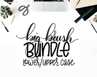 MODERN BRUSH SCRIPT, Big Brush Bundle, Uppercase & Lower Case, Practice Sheets, Printable, Downloadable, Practice Pages, Handwriting