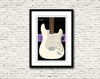 Guitars Signature Series Poster 6 Fender Stratocaster Jimi Hendrix
