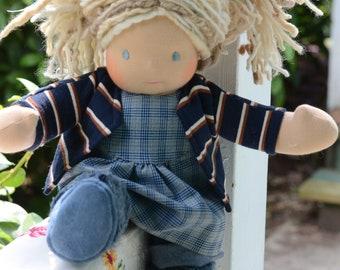 Bamboletta Sitting Friend Waldorf Doll - Alice