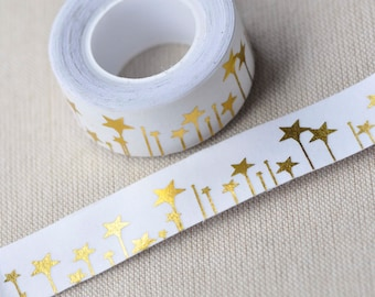 Foil Gold Star Washi Tape /Merry Christmas Masking Tape 20mm wide x 5m long No.13146
