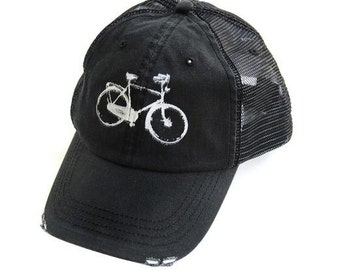 Sale - BIKE HAT  - Bike - Baseball Hat - Bicycle - Spring - Summer - Baseball Hat - Eco Friendly Hat