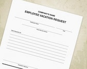Employee Vacation Request...