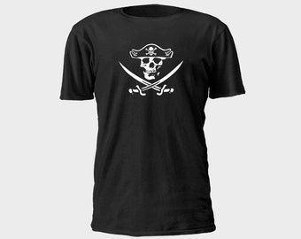 Mens Pirate T-Shirt - Jolly Roger 2
