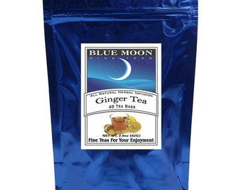 Sachets de thé de gingembre, 40 Pack