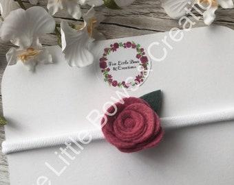 rose headband, flower headband, baby headband