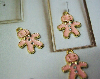 Pink Gingerbread charm