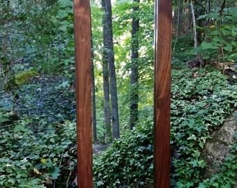 Walnut Mirror, Solid Walnut Mirror, Large Wall Mirror, Modern Mirror, Rustic Mirror, Full Length Mirror, Leaning Mirror