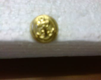 """Four round Golden buttons """"embossed anchor"""" """"BOR3"""" ø 2.20 cm"""