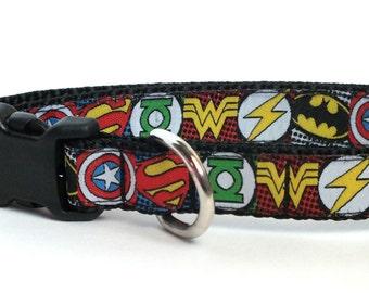 SALE Superhero Dog Collar, pet collar