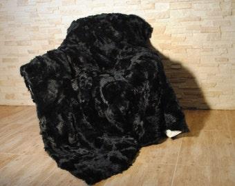 Real,Luxury  Genuine Blanket fur , Bedspread/Throw Rug , Pelzdecke , Felldecke Tagesdecke, manta de piel