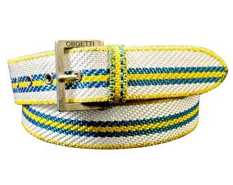 Fire Hose Belt - Upcycled Belt for Men - Handcrafted Men's Belt - Recycled Fire Hose Belt - Gift for Fireman - Gift for him - Unique Belts